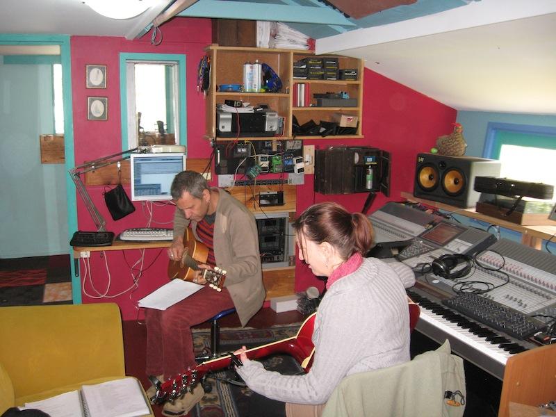 nicola-and-mickey-in-studio