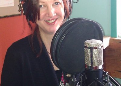 Nicola in vocal booth