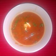 Moroccan roasted kumara & chickpea soup